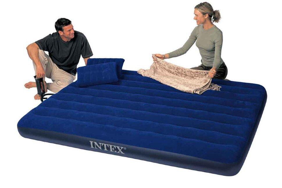 Надувной матрас двуспальный с подушками INTEX 68765(поврежденная упаковка) в Перми