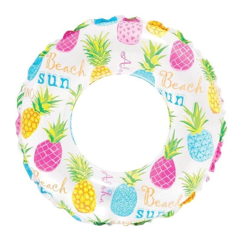 Надувной круг для плавания INTEX 59230 Красочные ананасы в Уфе