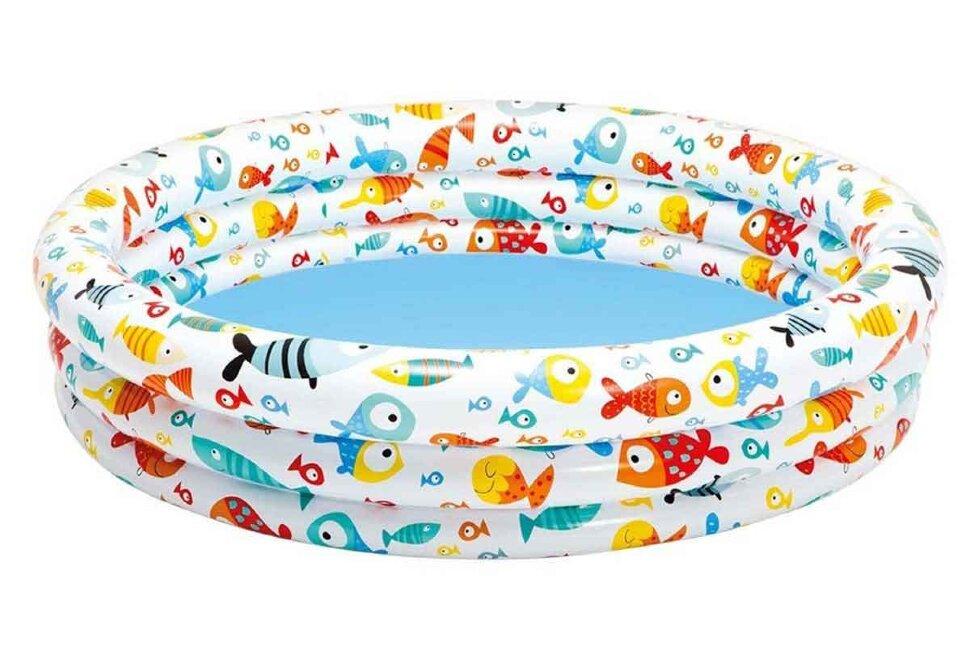 """Детский надувной бассейн """"Рыбки"""" INTEX 59431 в Барнауле"""