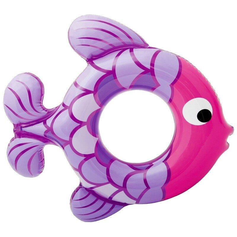 """Детский надувной круг """"Розовая рыбка"""" INTEX 59222 в Тюмени"""