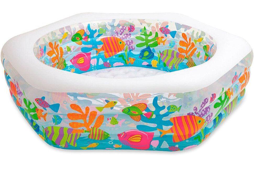 """Детский надувной бассейн """"Океанский риф"""" INTEX 56493(поврежденная коробка) в Новосибирске"""