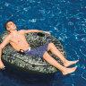 """Надувной круг-кресло """"Camo River Run"""" INTEX 58835(поврежденная упаковка) в Барнауле"""