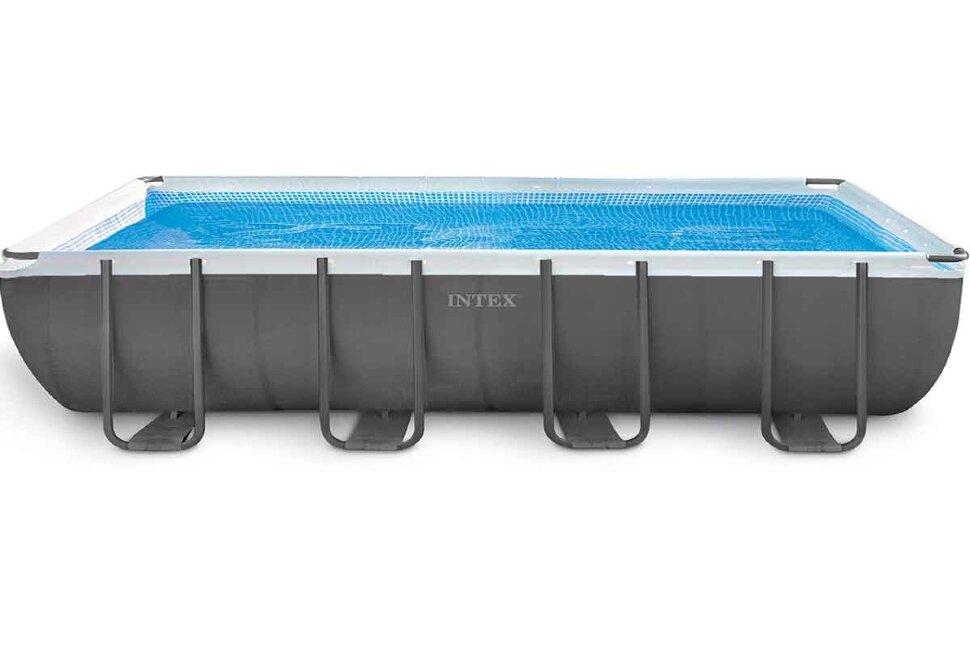 Бассейн каркасный прямоугольный INTEX Ultra XTR Rectangular Frame 26356 + игровые мячи для бассейна в Оренбурге