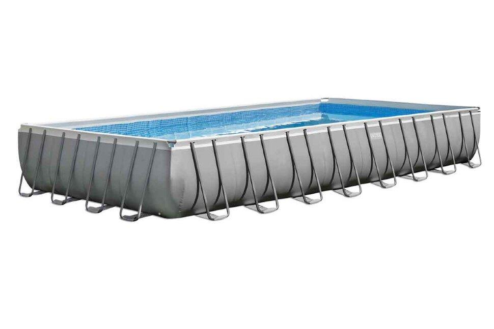 Бассейн каркасный прямоугольный INTEX Ultra XTR Rectangular Frame 26364 + игровые мячи для бассейна в Ростове-на-Дону