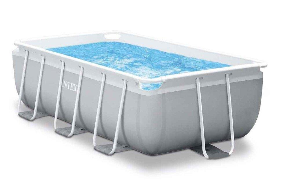 Бассейн каркасный прямоугольный INTEX Prism Frame Rectangular 26784 + игровые мячи для бассейна в Калуге