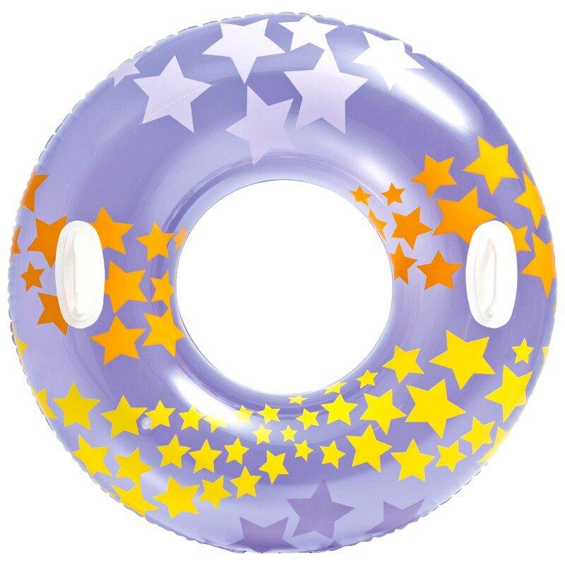 Надувной круг для плавания со звездами INTEX 59256 Purple в Тюмени