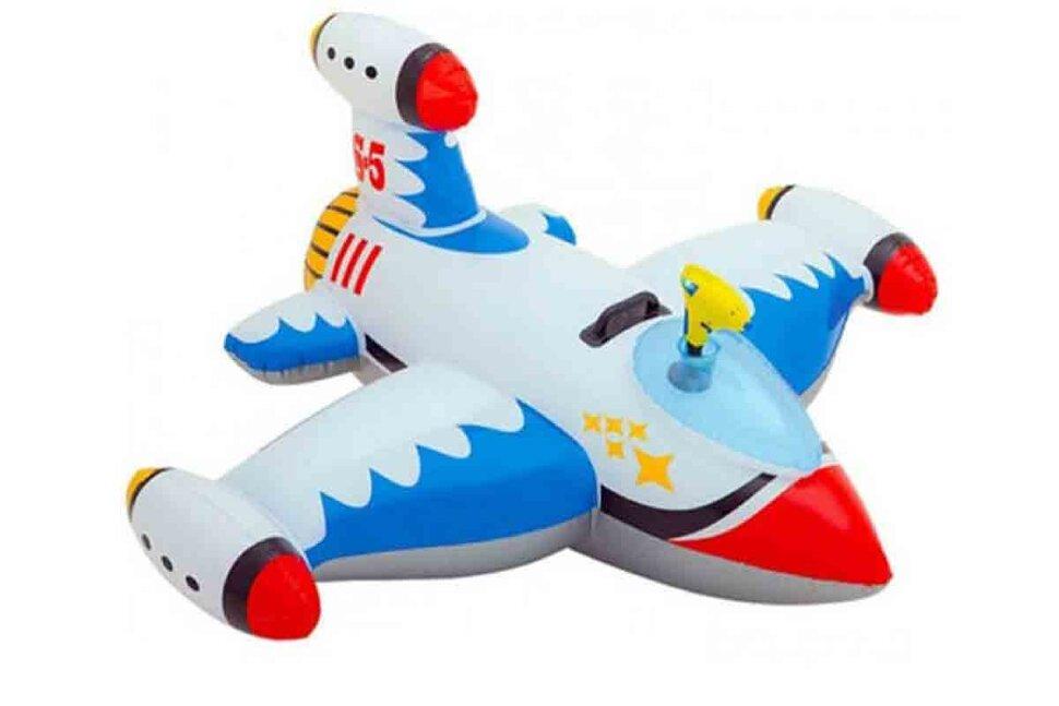 Надувной самолет с водным пистолетом INTEX 56539(поврежденная упаковка)