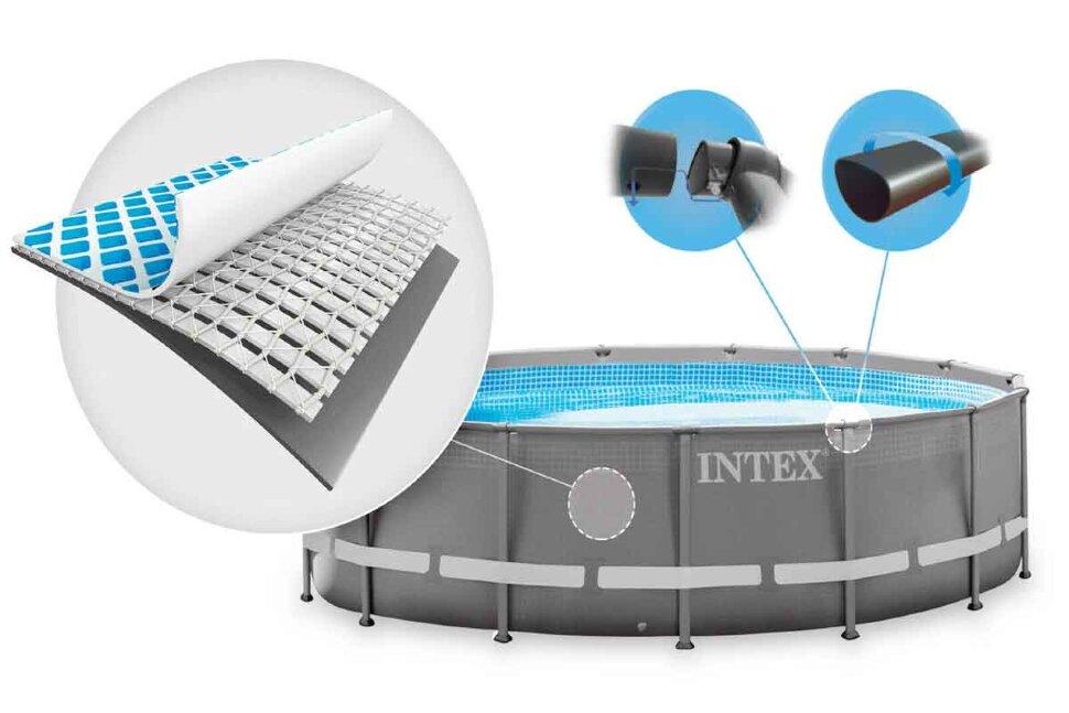 Бассейн каркасный круглый INTEX Ultra XTR Frame 26326  + подарок Кресло Ламзак! в Тольятти