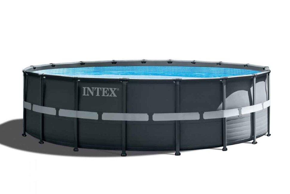 Бассейн каркасный круглый INTEX Ultra XTR Frame 26330 + в подарок игровые мячи для больших бассейнов в Клину