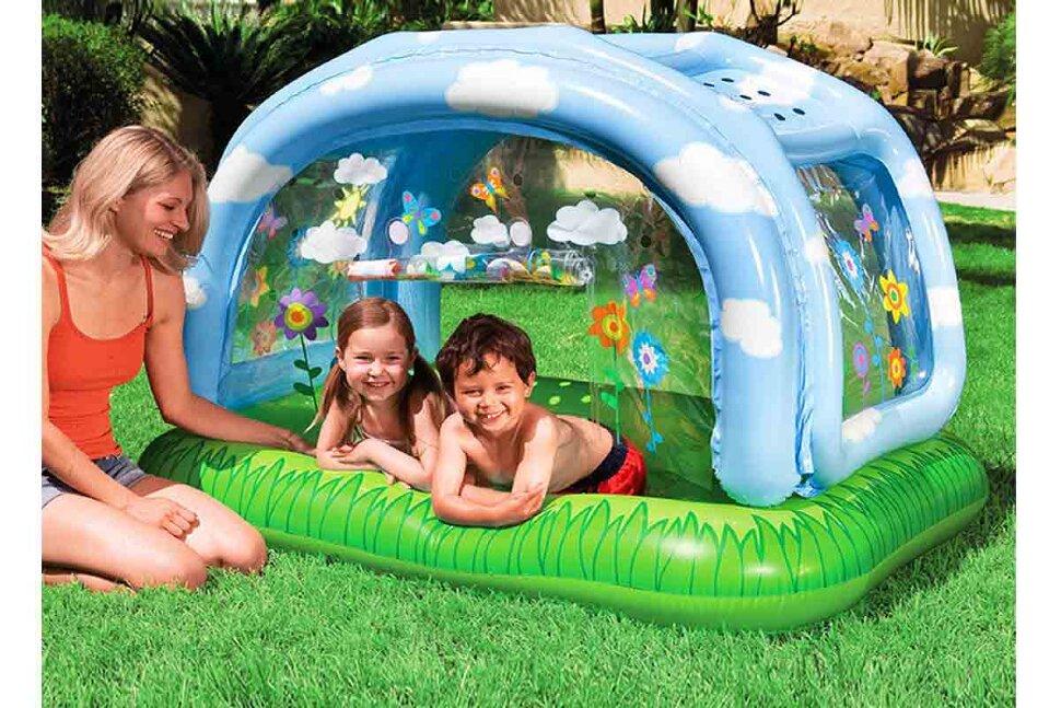 Детский надувной бассейн с навесом Intex 57406(поврежденная упаковка) в Тольятти