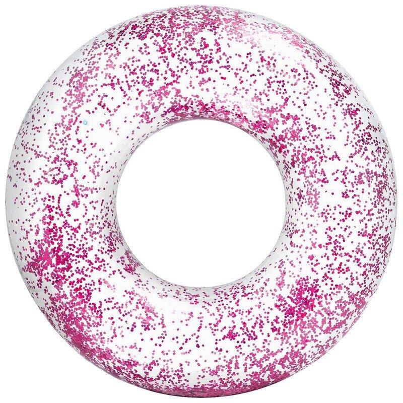 Надувной круг блестящий INTEX 56274 PINK в Уфе