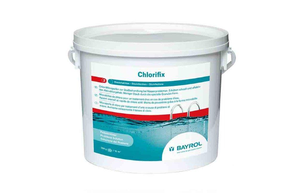 4533114 Bayrol, ХЛОРИФИКС (ChloriFix), гранулы, быстрорастворимый хлор для ударной дезинфекции воды, 5 кг ведро в Новосибирске