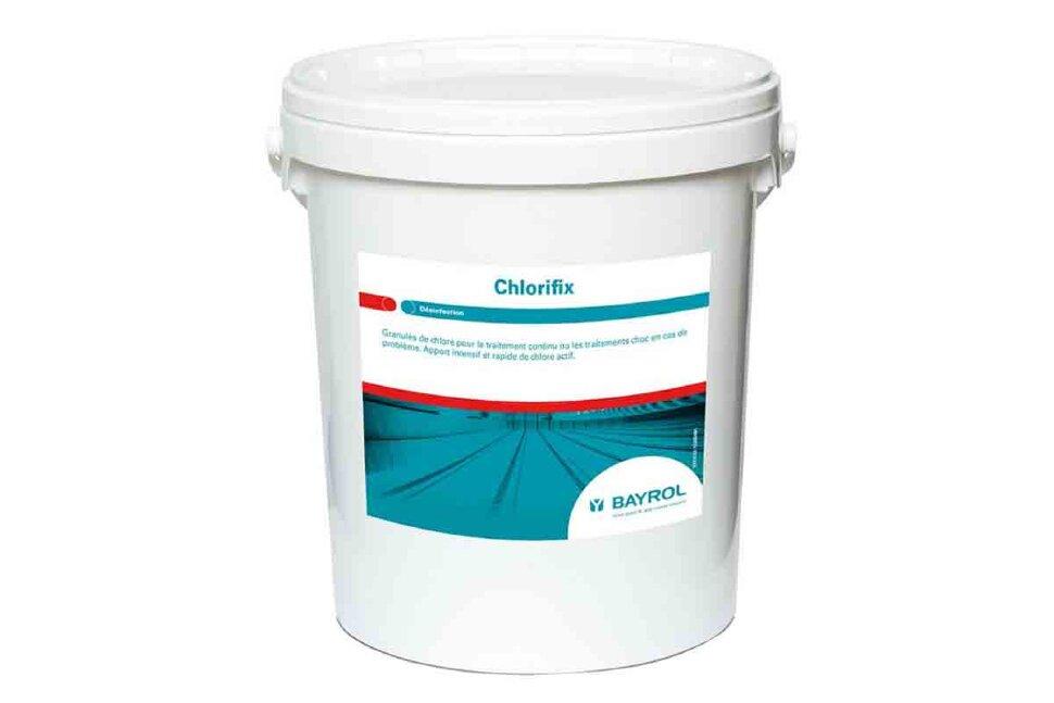 4533135 Bayrol, ХЛОРИФИКС (ChloriFix), гранулы, быстрорастворимый хлор для ударной дезинфекции воды, 25 кг ведро в Ростове-на-Дону