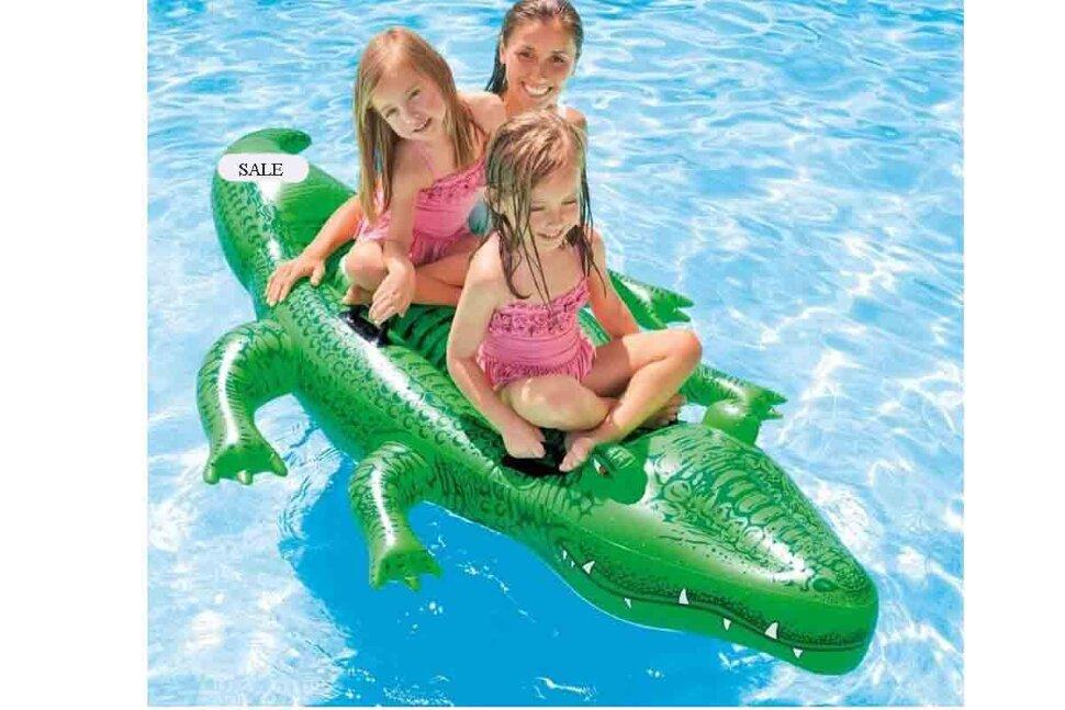 """Надувной плот """"Крокодил"""" INTEX 58562(поврежденная упаковка) в Калуге"""