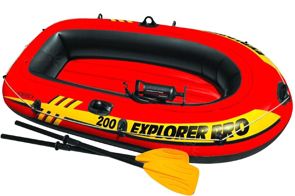Лодка надувная двухместная INTEX Explorer Pro 200 58356 в Тюмени