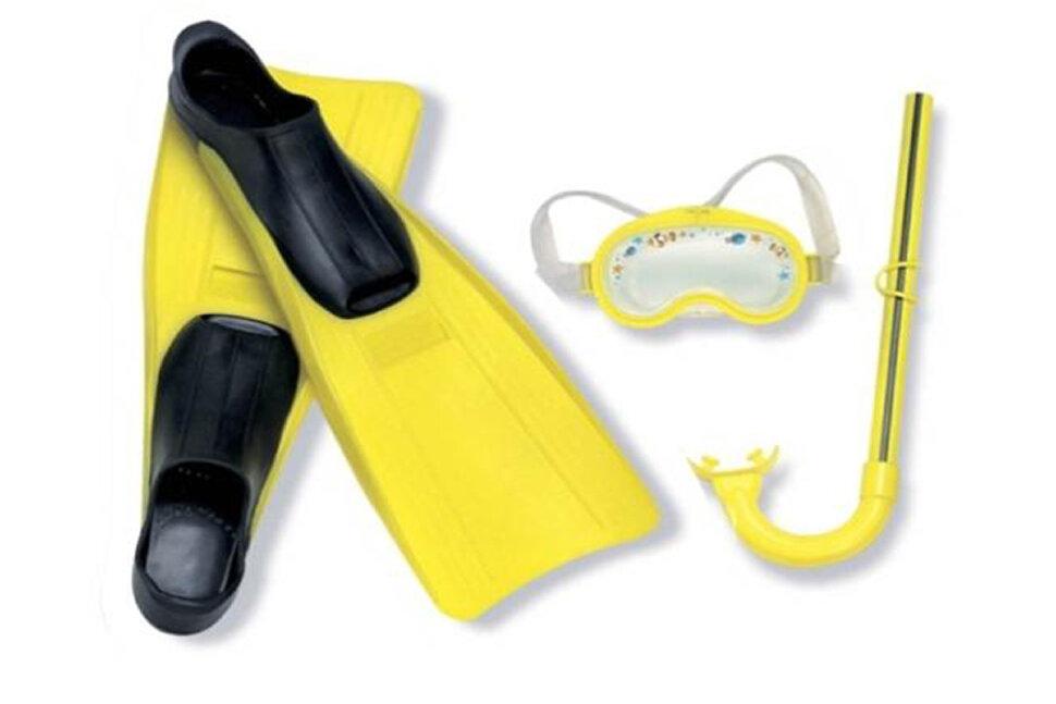 Комплект для плавания: маска, трубка, ласты INTEX 55956