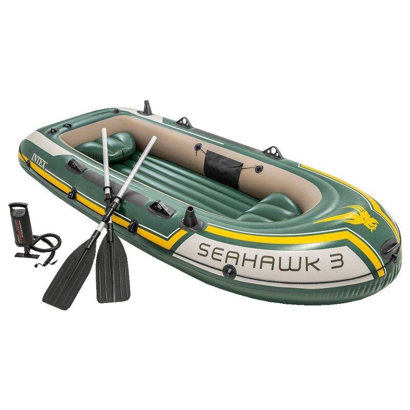 Лодка надувная трехместная INTEX Seahawk-3 Set 68380 в Смоленске
