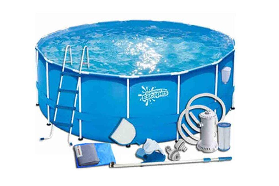 Каркасный бассейн SummerEscapes Metal Frame Р20-1552-В в максимальной комплектации