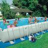 Семейный каркасный бассейн для дачи INTEX 28376