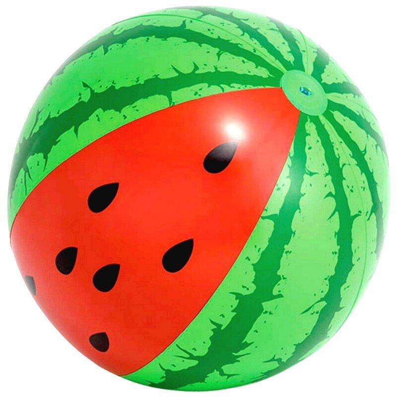 """Большой надувной пляжный мяч """"Арбуз"""" 107 см. INTEX 58071 в Новосибирске"""