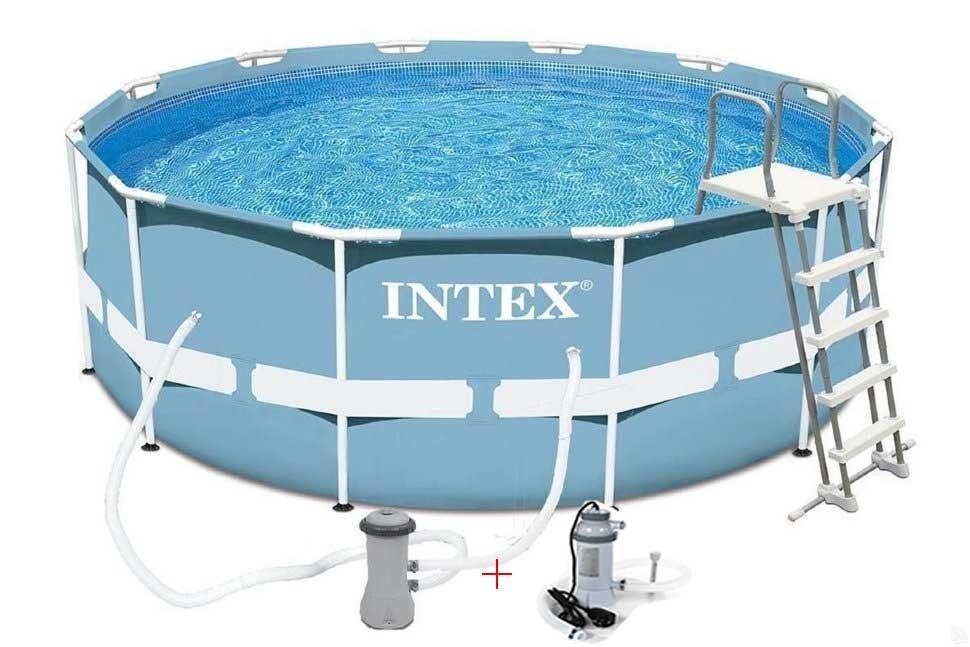 Бассейн каркасный с подогревом INTEX Prism Frame 26716P28684 в Перми