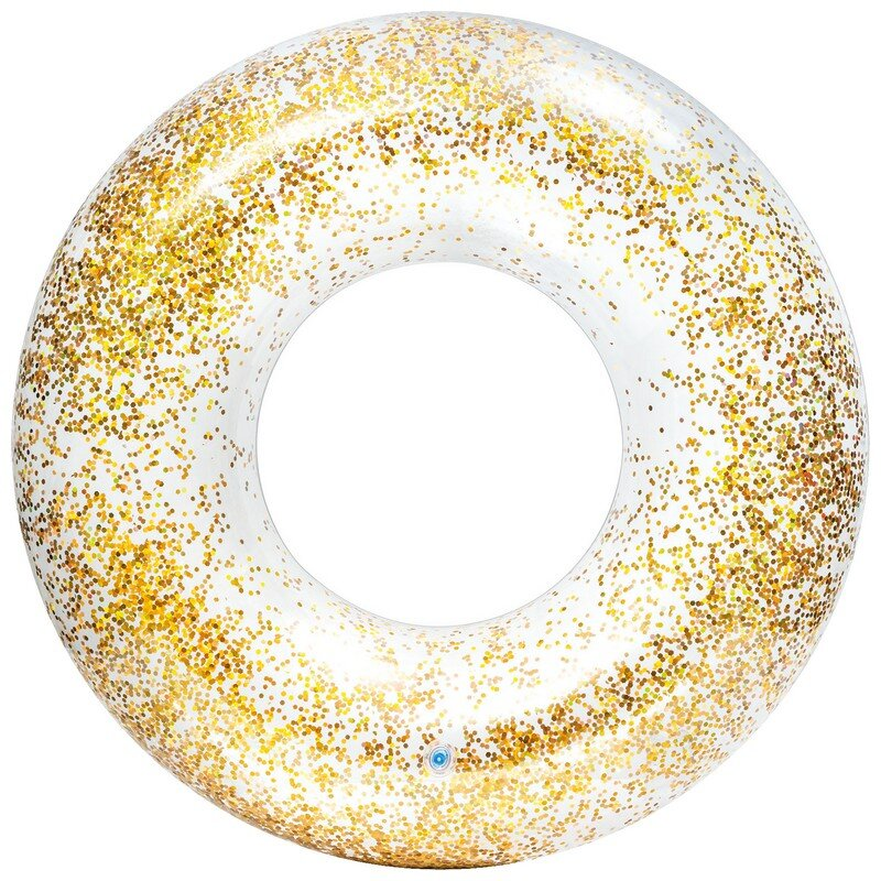 Надувной круг блестящий INTEX 56274 GOLD в Тюмени