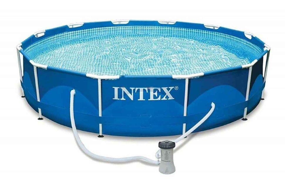 Бассейн каркасный круглый INTEX Metal Frame 28212 в Клину