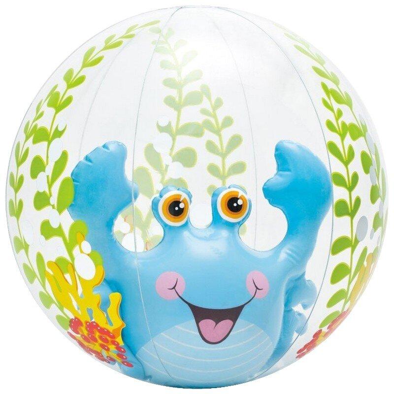 """Прозрачный надувной мяч """"Голубой краб"""" 61 cm. INTEX 58031 в Москве"""