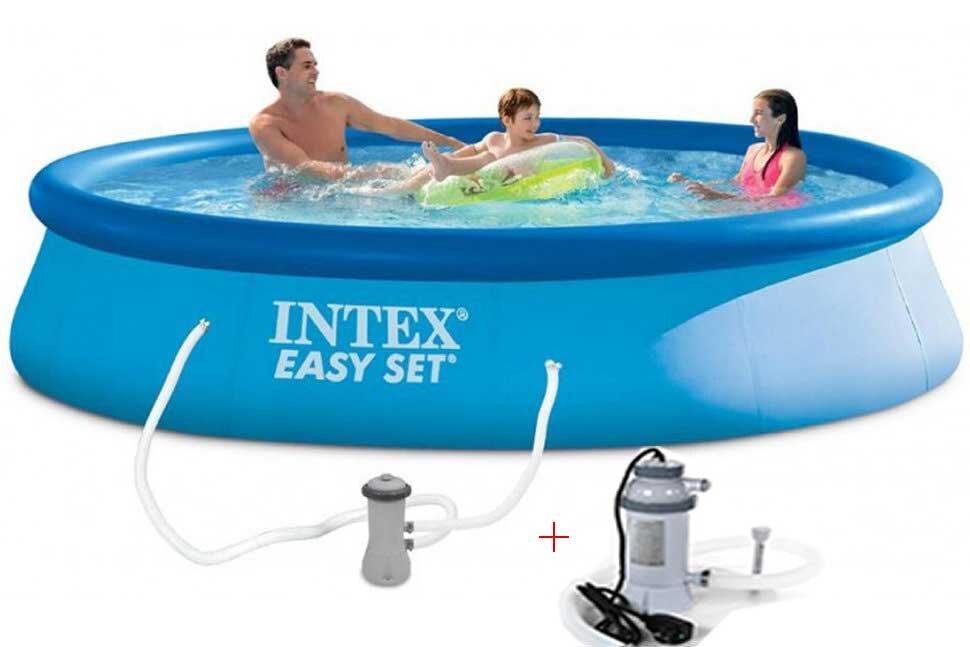 Бассейн надувной с подогревом INTEX Easy Set 28142P28684 в Смоленске