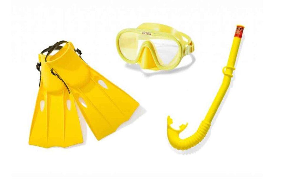 Комплект для плавания: маска, трубка, ласты INTEX 55655 в Ростове-на-Дону