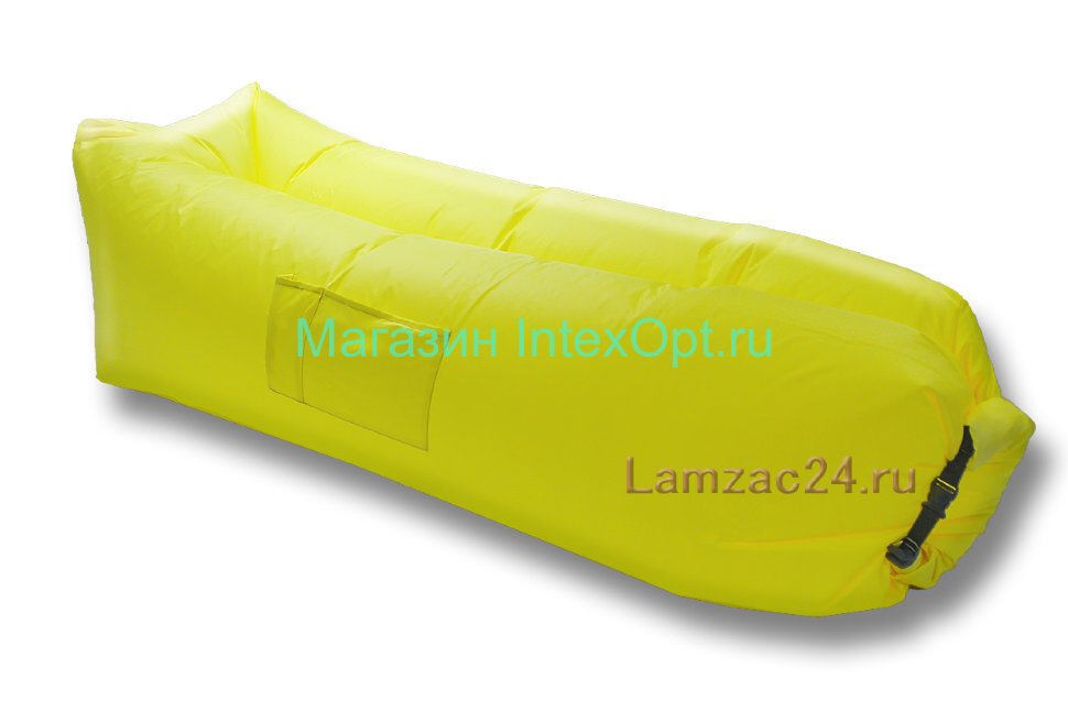 Надувной лежак ламзак (желтый) в Ростове-на-Дону