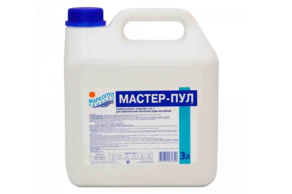 М21 Маркопул Кемиклс, Мастер-пул, 3л канистра для обеззараживания и очистки воды  в Смоленске