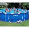 Каркасный круглый бассейн для дачи INTEX 28252