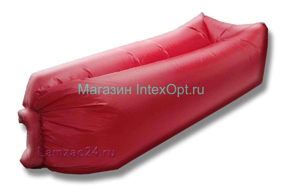 Надувной лежак ламзак (красный) в Туле