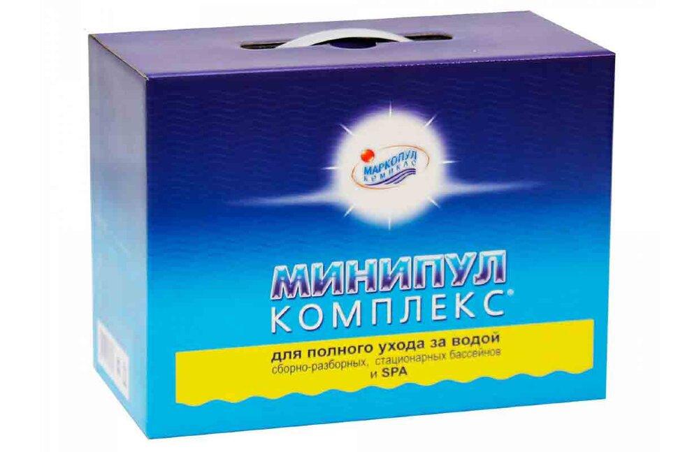 М22 Маркопул Кемиклс, Минипул Комплекс, 5.5 кг коробка 5 в 1 для полного ухода за бассейном от 10 до 30м3 в Казани