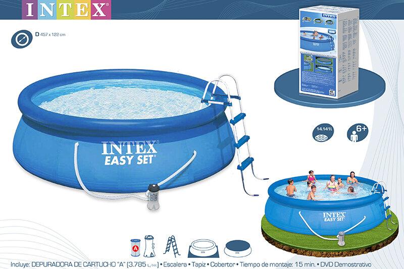 Бассейн надувной с подогревом INTEX Easy Set 26168P28684 в Тюмени