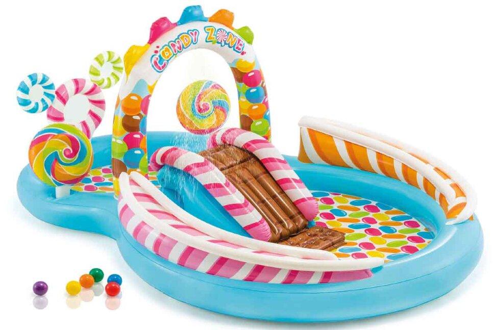 """Детский бассейн с горкой """"INTEX Candy Zone"""" 57149 в Новосибирске"""