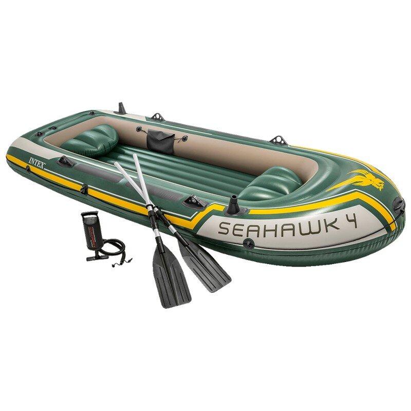 Лодка надувная четырехместная INTEX Seahawk-4 Set 68351 в Екатеринбурге