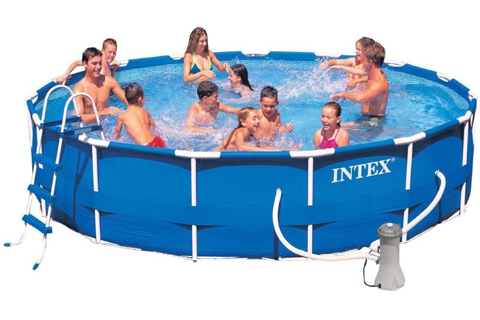 Бассейн каркасный круглый INTEX Metal Frame 28232 в Барнауле