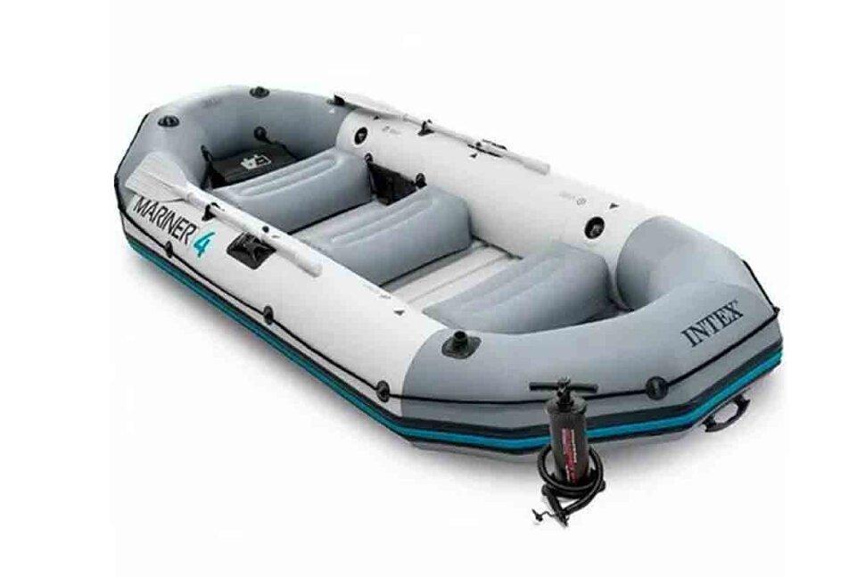 Лодка надувная четырехместная INTEX Mariner-4 68376 Акция - последняя штука