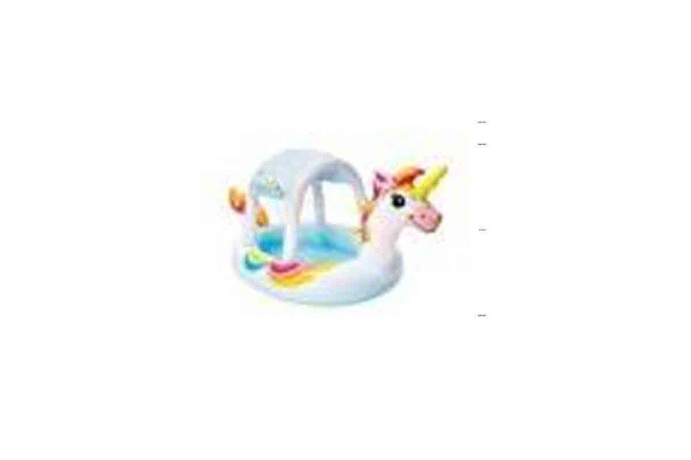 """Надувной детский бассейн с навесом """"Единорог"""" INTEX 58435"""