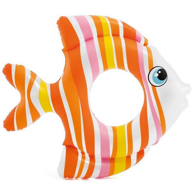 """Круг для плавания """"Тропическая рыбка"""" INTEX 59223 Orange в Перми"""