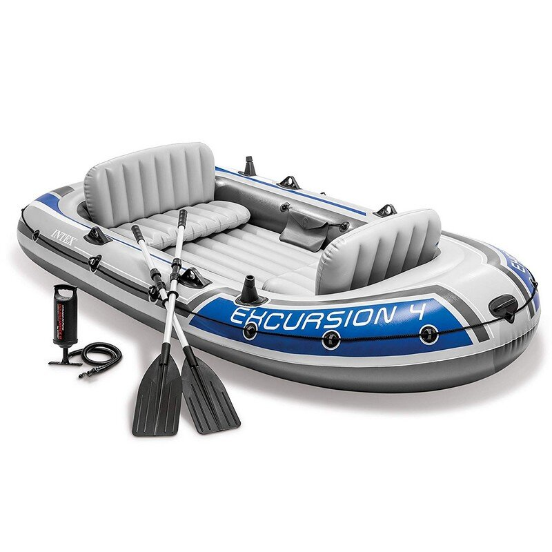 Лодка надувная четырехместная INTEX Excursion-4 68324 в Новосибирске