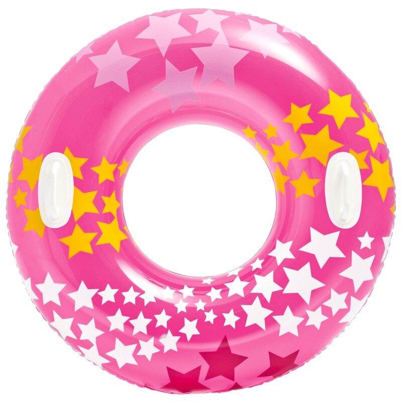 Надувной круг для плавания со звездами INTEX 59256 Pink в Кемерово