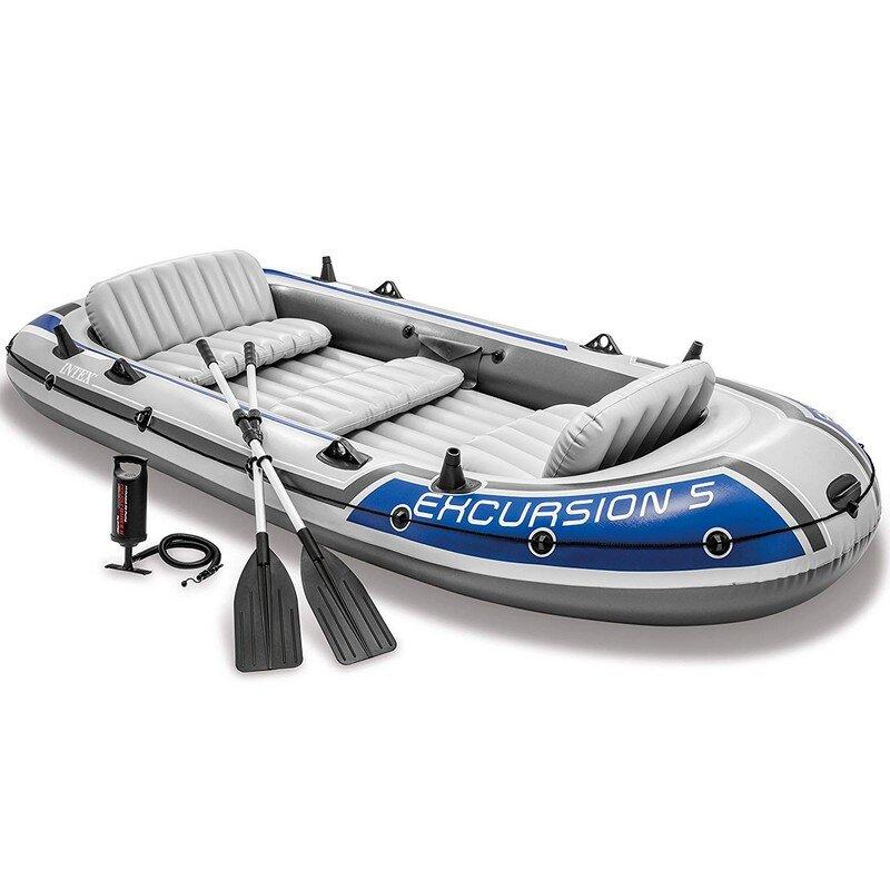 Лодка надувная пятиместная INTEX 68325 Excursion 5 Set в Екатеринбурге