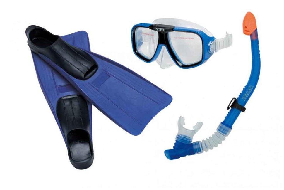 Комплект для плавания: маска, трубка, ласты INTEX 55957 в Перми