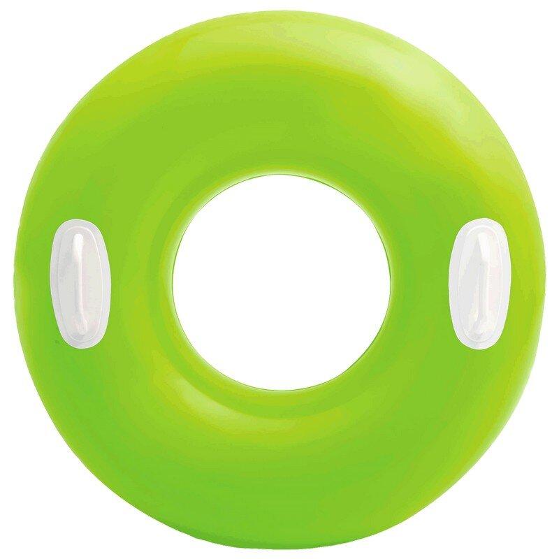 Надувной круг с ручками INTEX 59258 Lime NEON в Оренбурге
