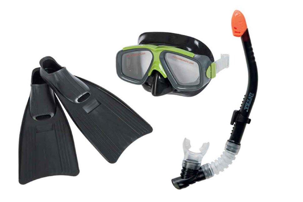 Комплект для плавания: маска, трубка, ласты INTEX 55959 в Клину