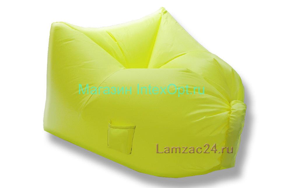 Надувное кресло ламзак (желтое) в Казани