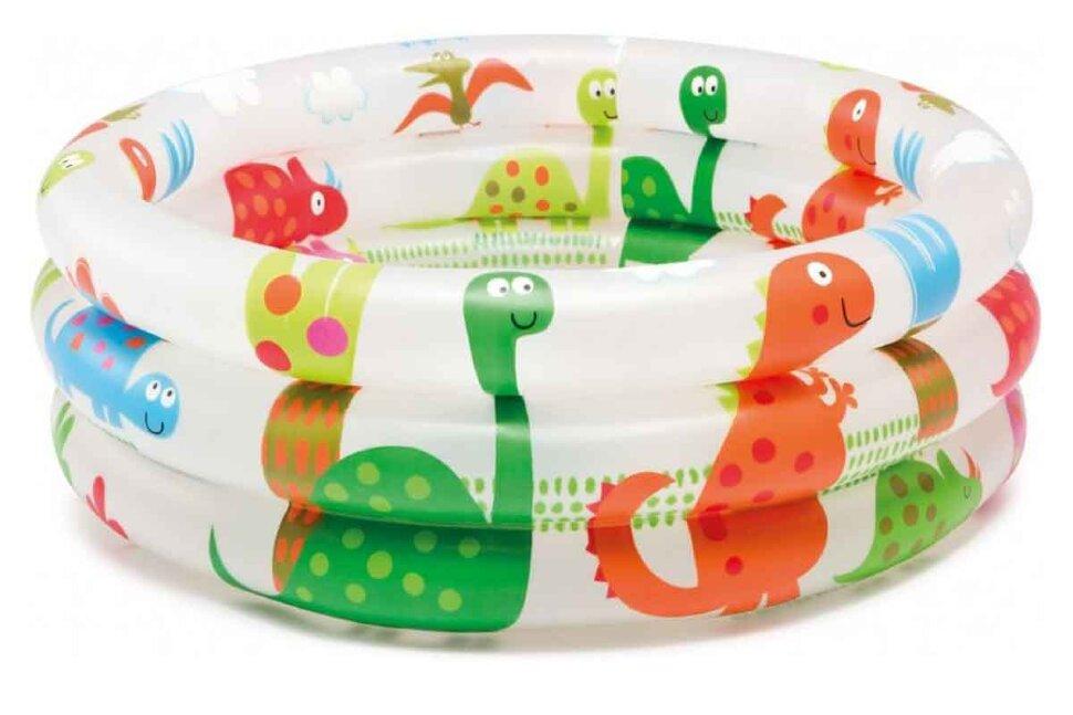 """Детский надувной бассейн """"Динозаврик"""" INTEX 57106 в Новосибирске"""